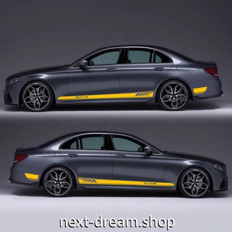 ステッカー デカール ベンツ E200 E300 E400 4 MATIC用 お洒落 ロゴ 外装 サイドドア ボディ 自動車 カースタイリング m02033