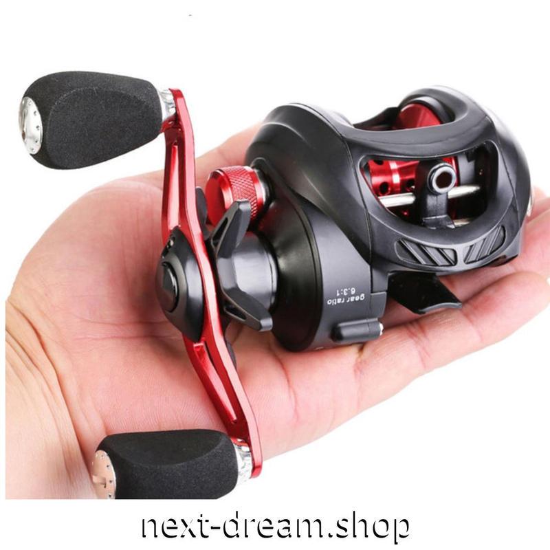 新品 ベイトリール 釣り道具 お洒落 フィッシング  高速 黒×シルバー 海水 淡水 右ハンドル 左ハンドル m01975