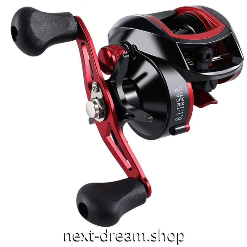 新品 ベイトリール 釣り道具 お洒落 海水 淡水 フィッシング 18BB  黒×赤 右ハンドル 左ハンドル m01962