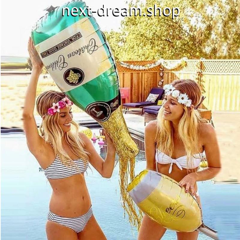 おしゃれ風船 シャンパンボトル お酒   飾り デコ  誕生日 結婚式 イベント パーティ  ふうせん バルーン ヘリウム   m01231
