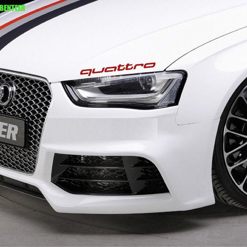 アウディ ステッカー quattro 2個入 ヘッドライト ボディ Audi A1 A3 A4 A6 A6L A7 A8 Q3 Q5 Q7 TT S RS h00380