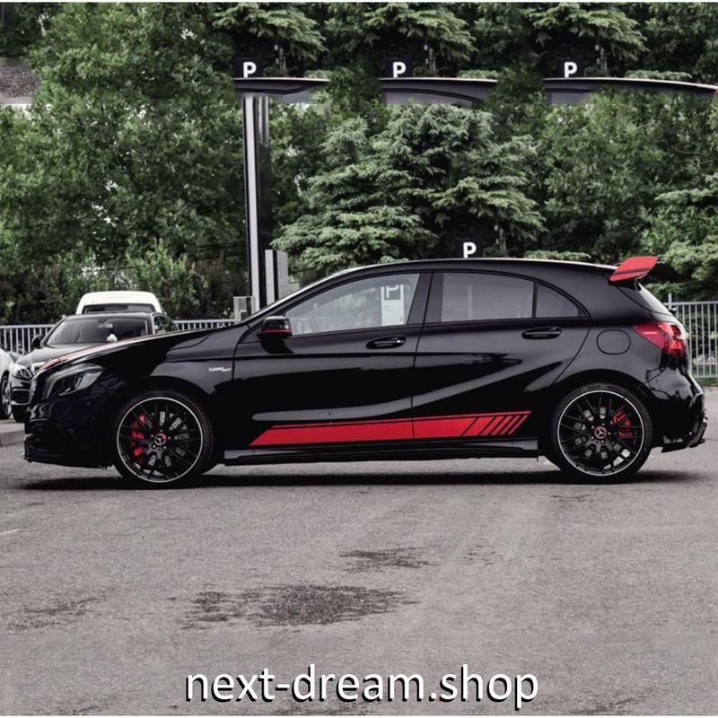 ステッカー デカール ベンツ AMG 45 4 MATIC用 お洒落 ロゴ 外装 サイドドア ボディ 黒 赤 シルバー 自動車 カースタイリング m02031