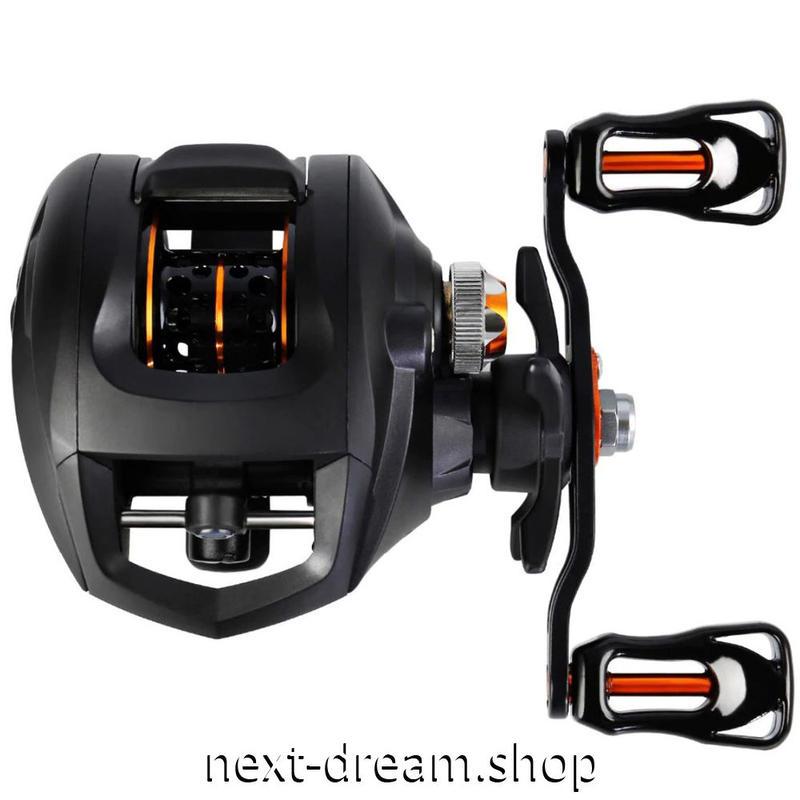 新品 ベイトリール 釣り道具 お洒落 フィッシング  11BB 黒×オレンジ ギア 右ハンドル 左ハンドル m01963