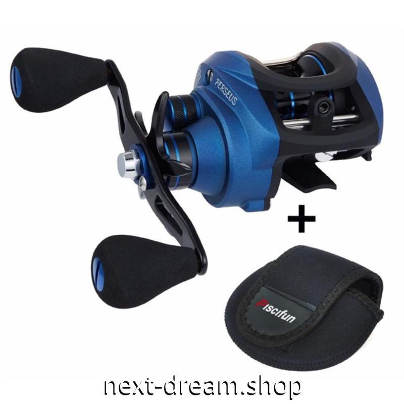 新品 ベイトリール 釣り道具 お洒落 フィッシング 磁気ブレーキ 遠心ブレーキ ベアリング 6 黒×青 右ハンドル 左ハンドル m01930