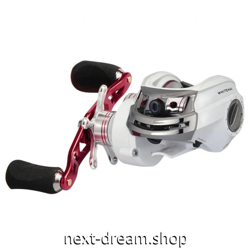 新品 ベイトリール 釣り道具 フィッシング 5.3: 1 ギア比 銀×赤 右ハンドル 左ハンドル m01922