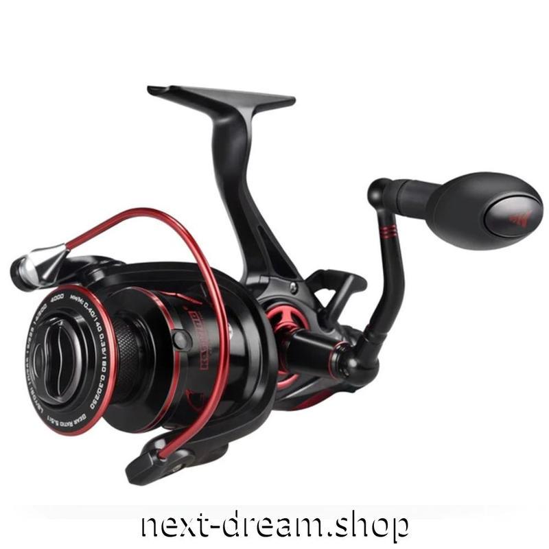 新品 リール 釣り道具 フィッシング 淡水 スピニング 低音 高性能ベアリング 黒×赤 3000 /4000 / 5000 / 6000番 m01910