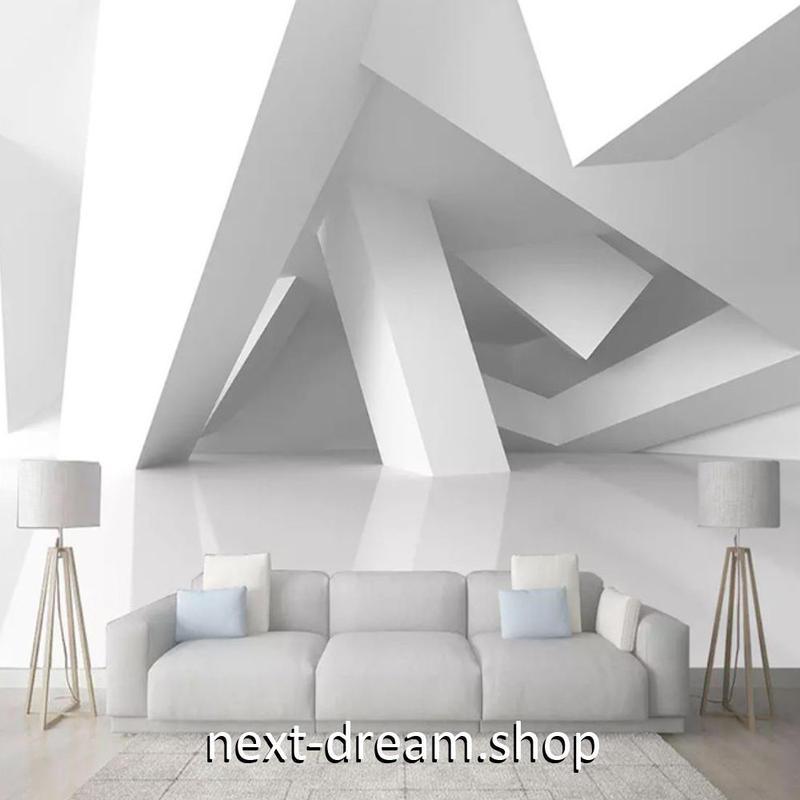 3D 壁紙 1ピース 1㎡ 立体空間 幾何学 北欧モダン DIY リフォーム インテリア 部屋 寝室 防湿 防音 h03107