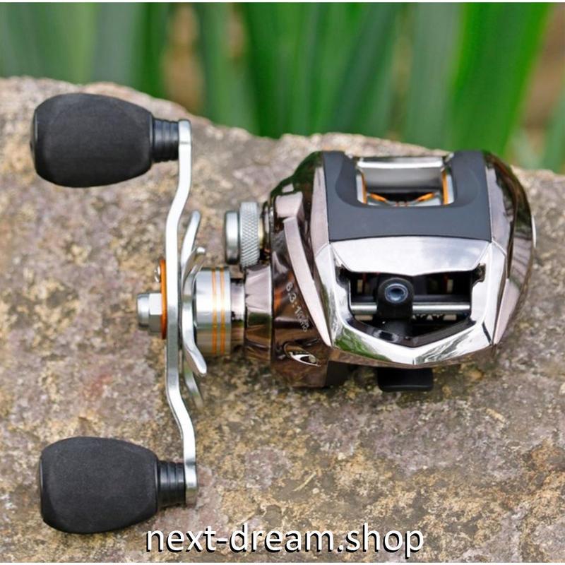 新品 ベイトリール 釣り道具 お洒落 フィッシング  黒×シルバー コイルタックル 右ハンドル 左ハンドル m01964