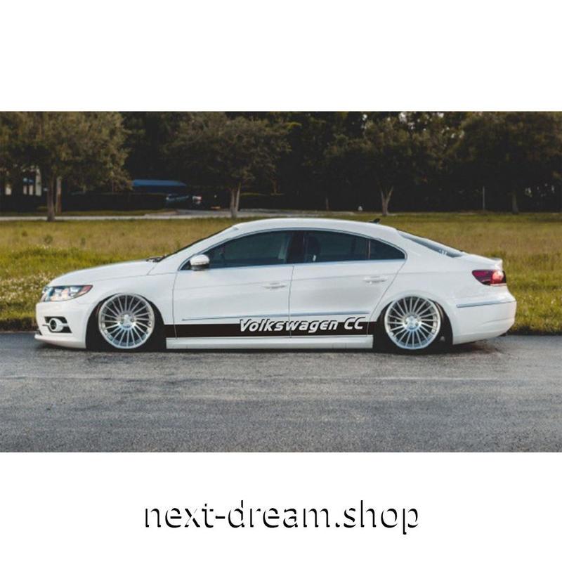 ステッカー 車 デカール VW フォルクスワーゲン パサートCC 用 Volkswagen ロゴ 外装 サイド ボディ 自動車 カースタイリング m02035