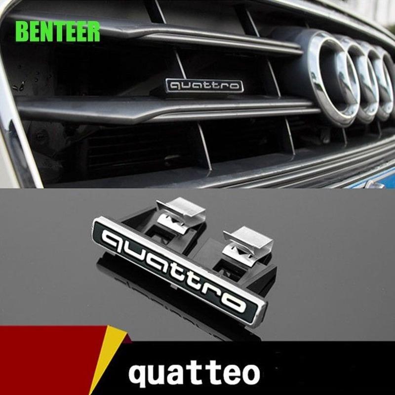 アウディ ステッカー quattro ABS バッジ Audi A3 A4L A6L A7 A8 Q3 Q5 Q7 TT h00376