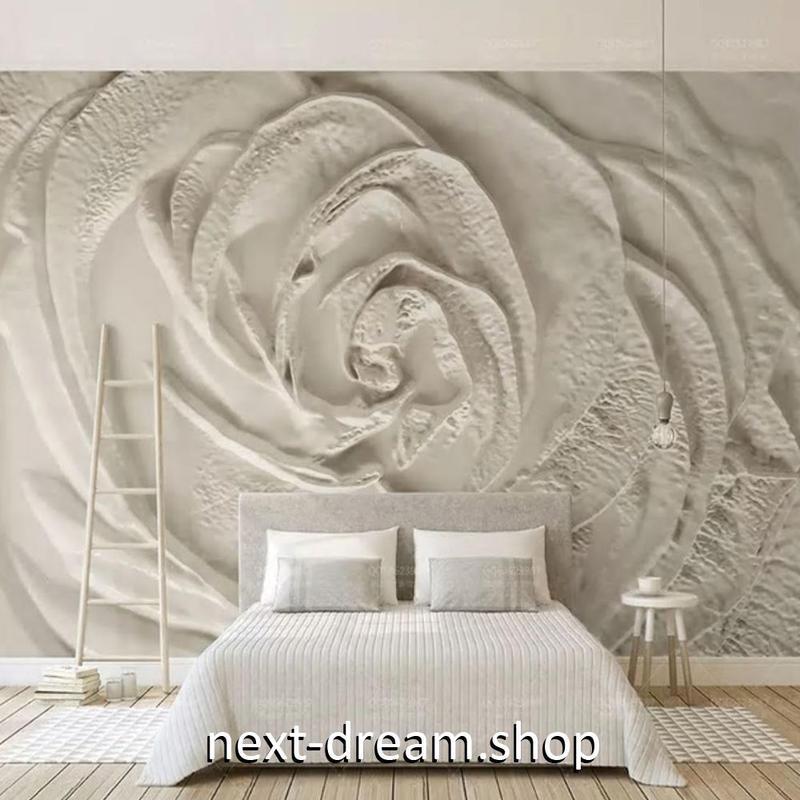 3D 壁紙 1ピース 1㎡ 彫刻デザイン 薔薇 ローズ DIY リフォーム インテリア 部屋 寝室 防湿 防音 h03221