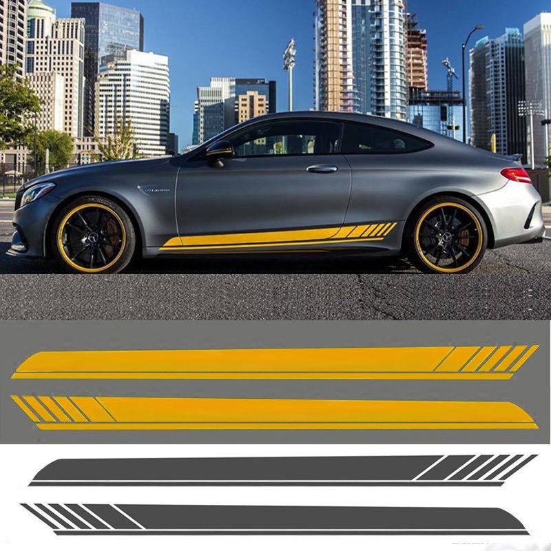 ベンツ ステッカー ボディ サイド 2点セット Mercedes benz h00525