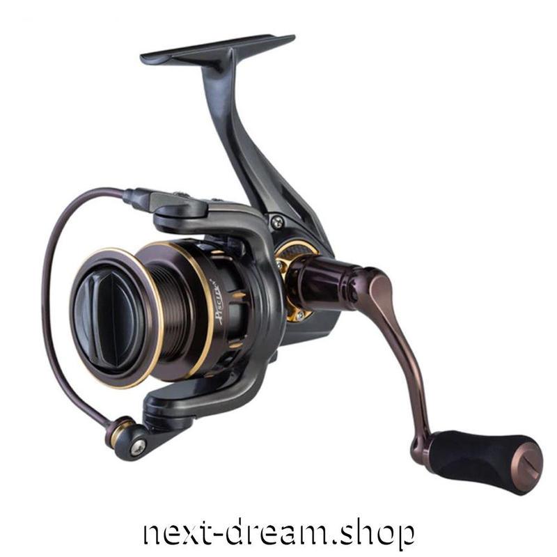 新品 スピニングリール 釣り道具 フィッシング アルミ合金 10BBs 高性能ベアリング 黒×ゴールド 2000 / 4000番 m01946