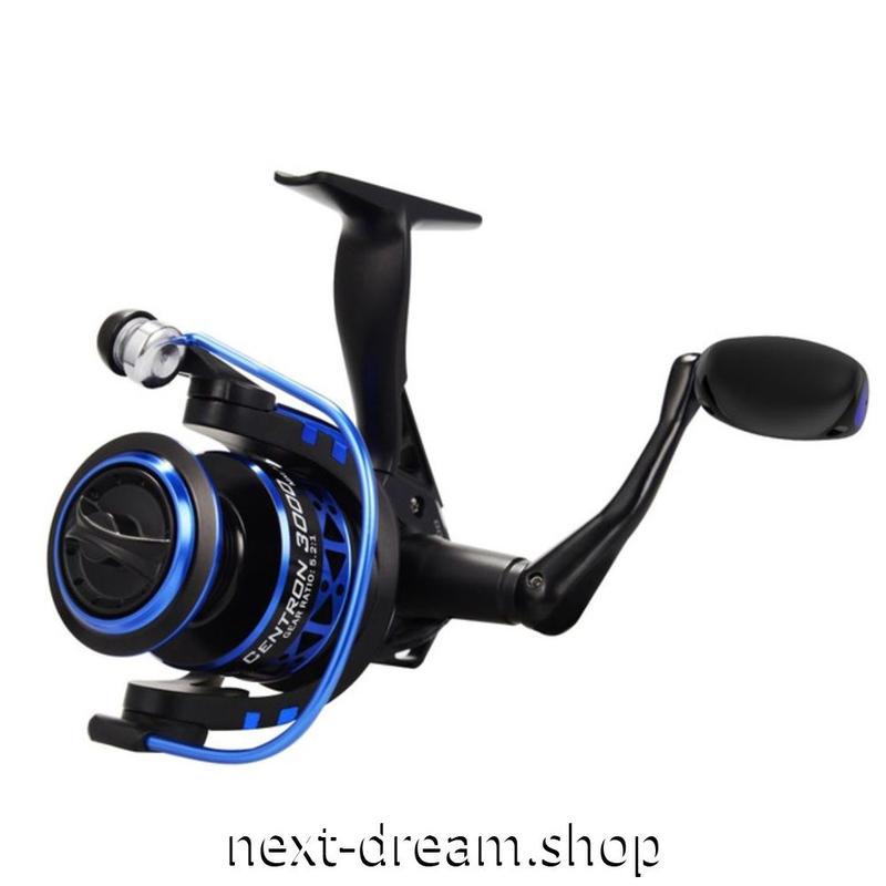 新品 リール 釣り道具 フィッシング 5.2:1 / 4.5:1 スピニング 低音 高性能ベアリング 黒×青 2000 / 3000 /4000 / 5000番 m01911