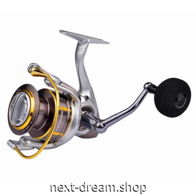 新品 リール 釣り道具 フィッシング フルメタルボディ スピニング 低音 高性能ベアリング ゴールド×シルバー 2000 / 3000番 m01906
