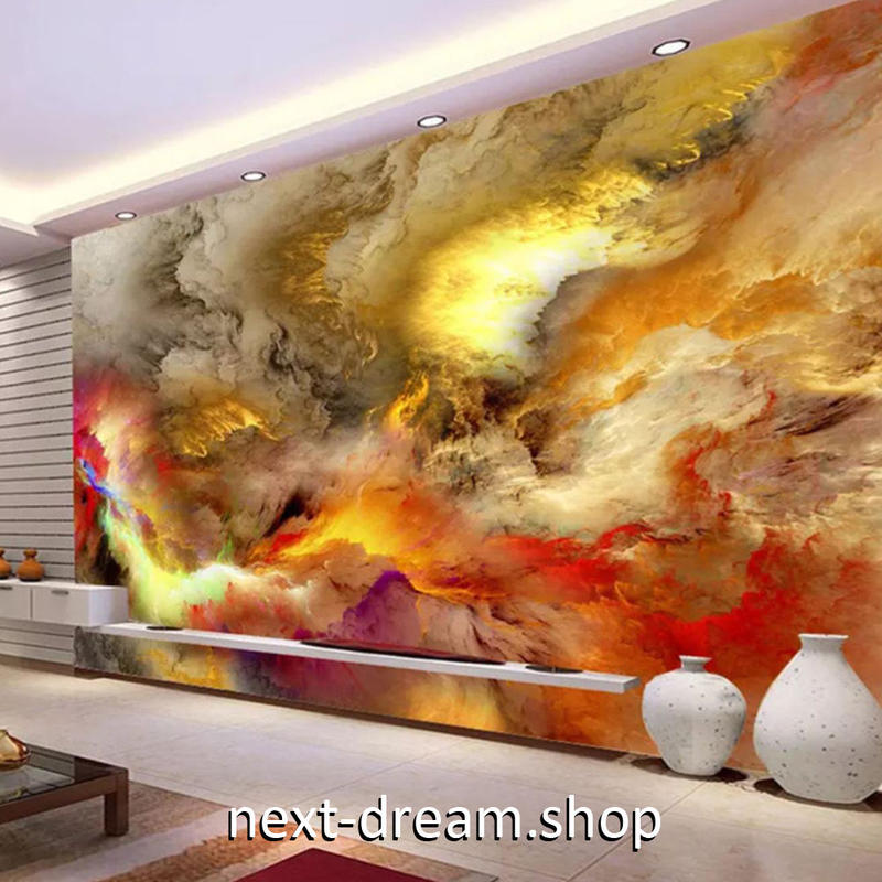 3D 壁紙 1ピース 1㎡ 絵画 カラフルな雲 アート DIY リフォーム インテリア 部屋 寝室 防湿 防音 h03105
