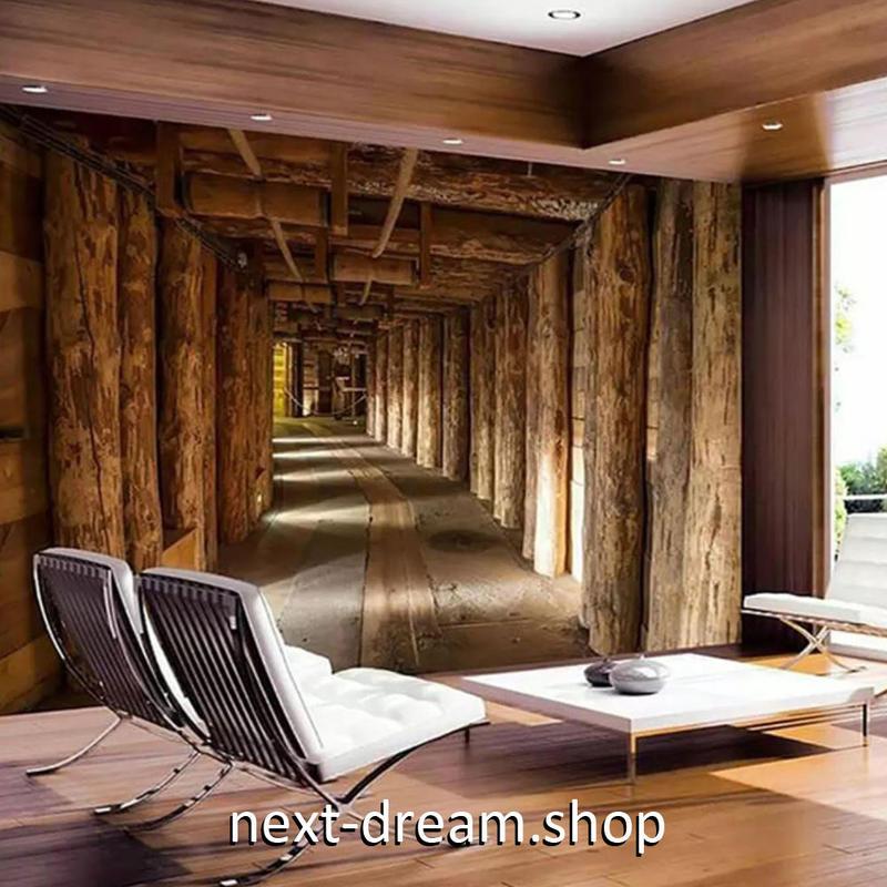 3D 壁紙 1ピース 1㎡ 立体空間 木の家 コテージ DIY リフォーム インテリア 部屋 寝室 防湿 防音 h03117