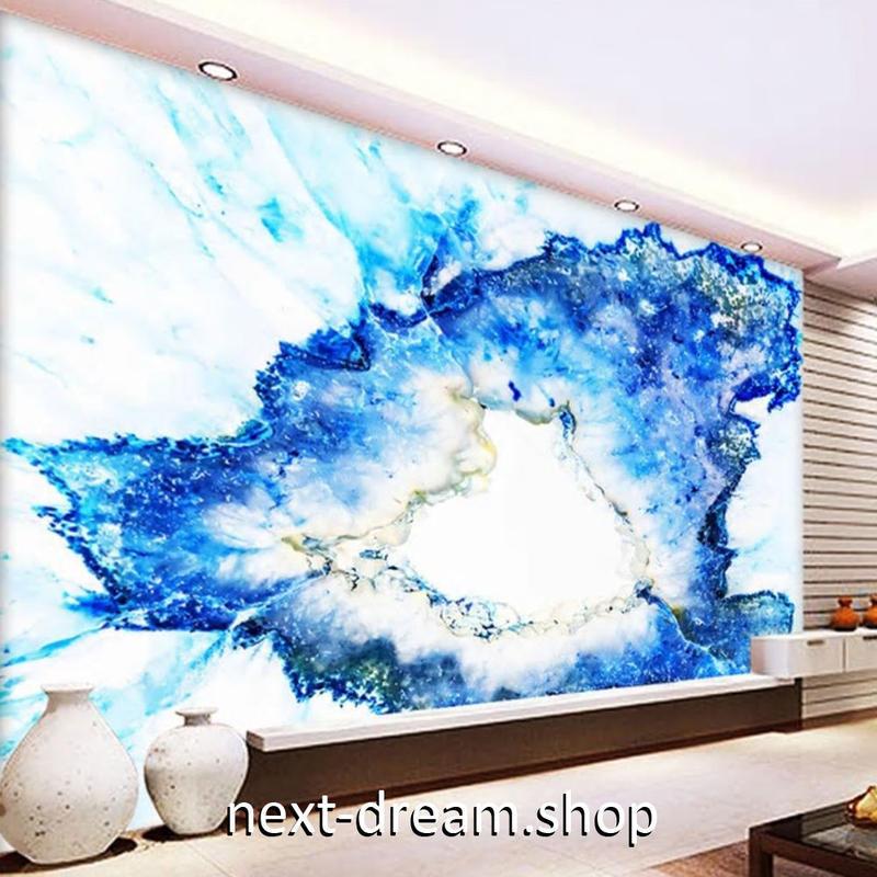3D 壁紙 1ピース 1㎡ モダンアート 水滴 青色 DIY リフォーム インテリア 部屋 寝室 防湿 防音 h03223