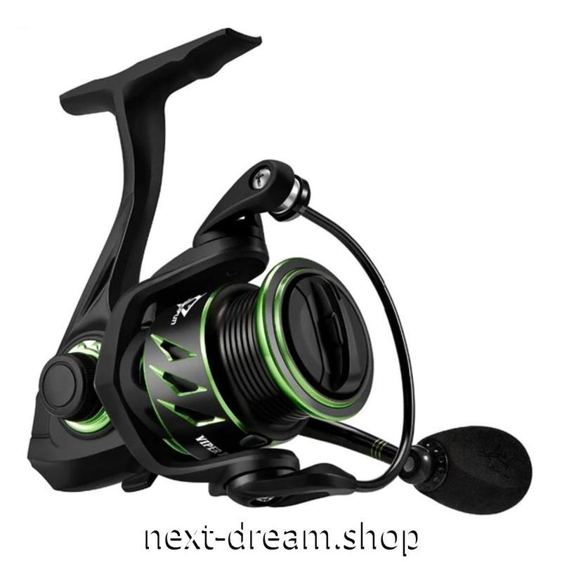 新品 スピニングリール 釣り道具 フィッシング 6.2: 1 高ギア比 超軽量 高性能ベアリング 黒×緑 1000 / 2000番 m01936