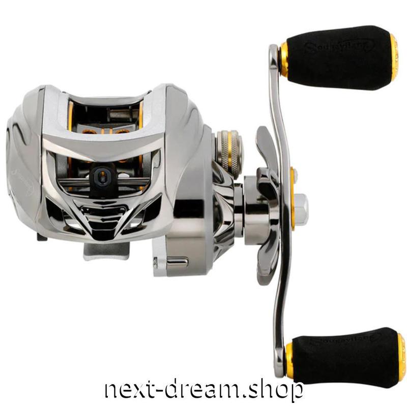 新品 ベイトリール 釣り道具 お洒落 フィッシング  シルバー ステンレスベアリング 右ハンドル 左ハンドル m01965