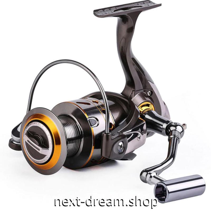 新品 スピニングリール 釣り道具 フィッシング 鯉釣り 黒×金色 カーボン 1000 / 2000 / 3000 / 4000 / 5000 / 6000番 m02024