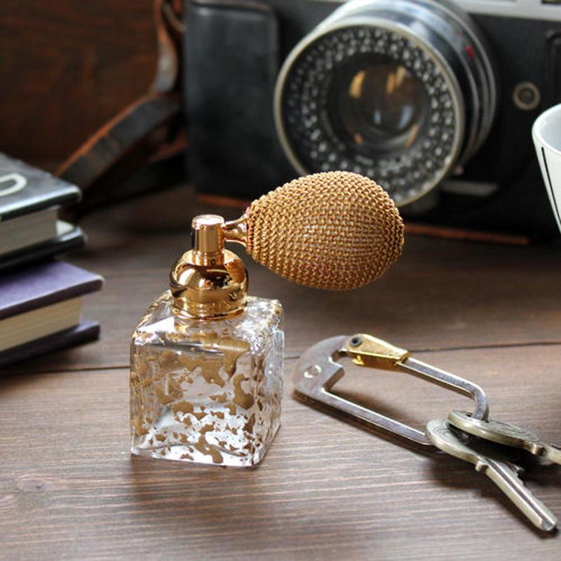 ドイツ製クリスタルボトル バルブアトマイザー  430615 (ゴールド/ブラック)【香水 フレグランス アロマ】★ラッピング無料★