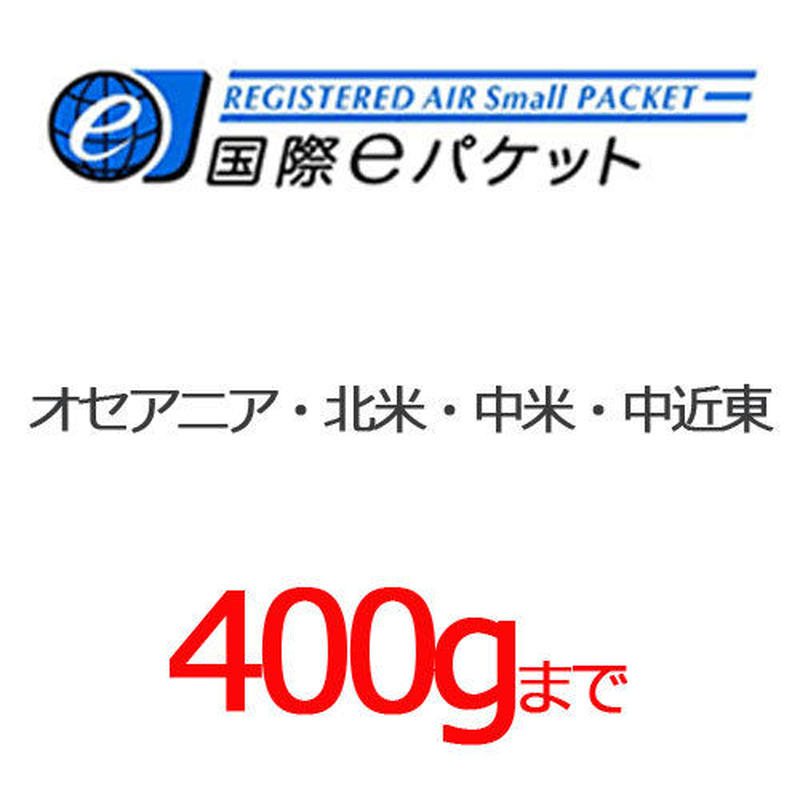国際eパケット ~400g オセアニア・北米・中米・中近東