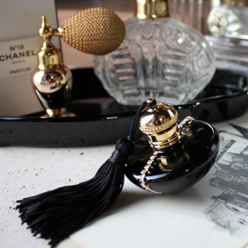 ハーフムーン パフュームボトル 7ml(ブラック×ブラック)【香水 フレグランス アロマ プレゼント】