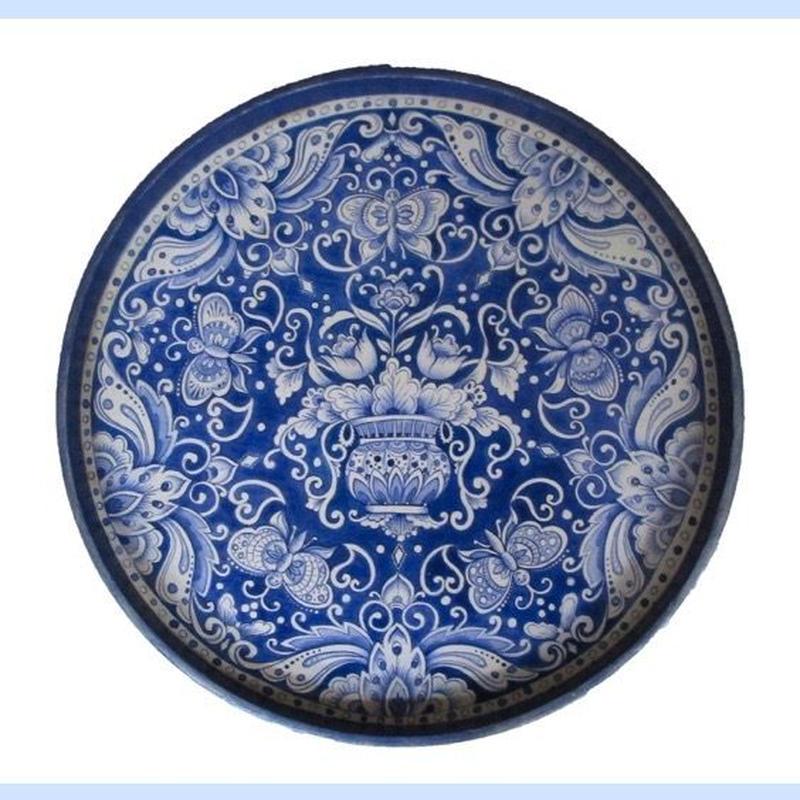 プリントアウト式  パターンパケット;Delft  Blue のトレー;