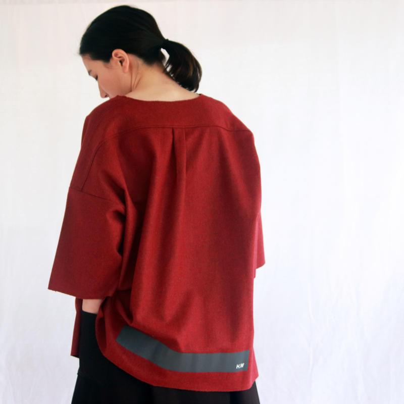 レクタンゴーネームプルオーバー / red