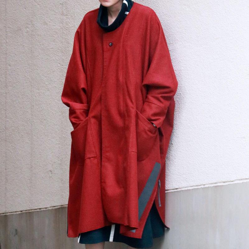 レクタンゴーネームコート / red