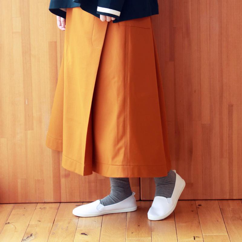 ジャージラップスカート / orange