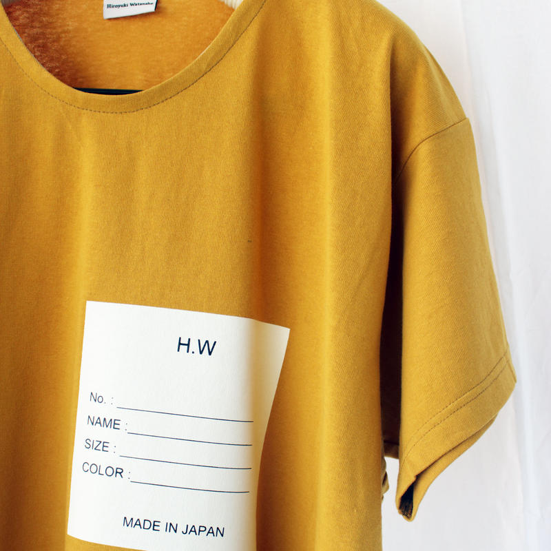 Name Tシャツ / yellow