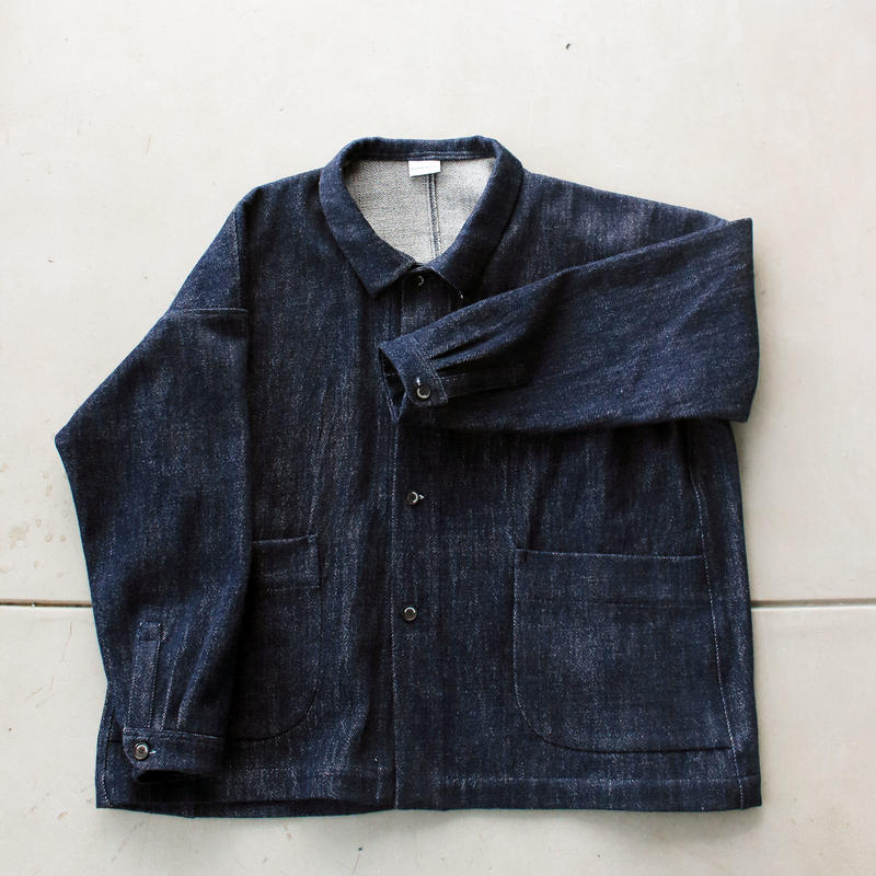 デニムオーバージャケット / indigo blue