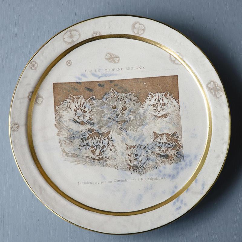 ペルシャ猫たちのプレート大皿