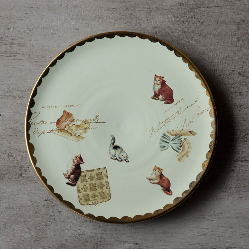 猫とファルファッレのお皿 - 1