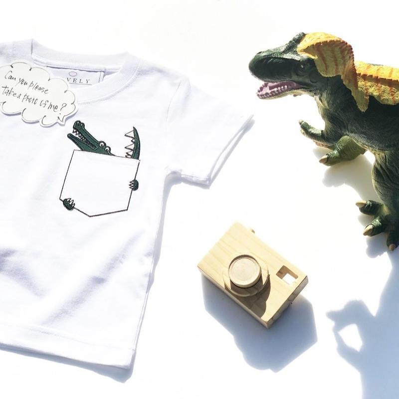 CROCODILEKIDSTシャツ White