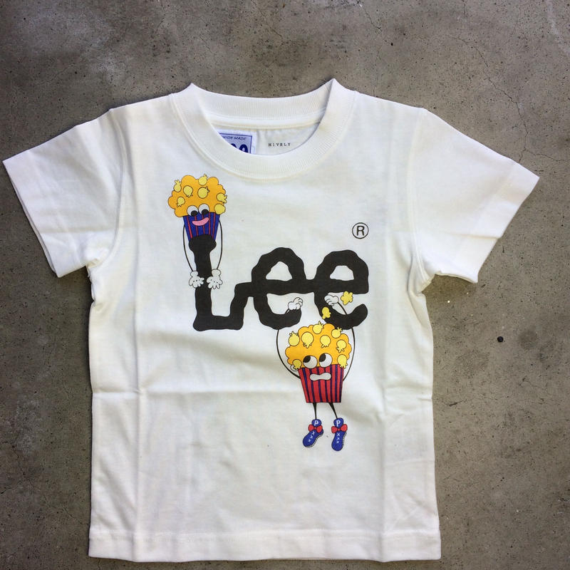 LEE×stompstamp×HIVELYコラボTシャツ ホワイト