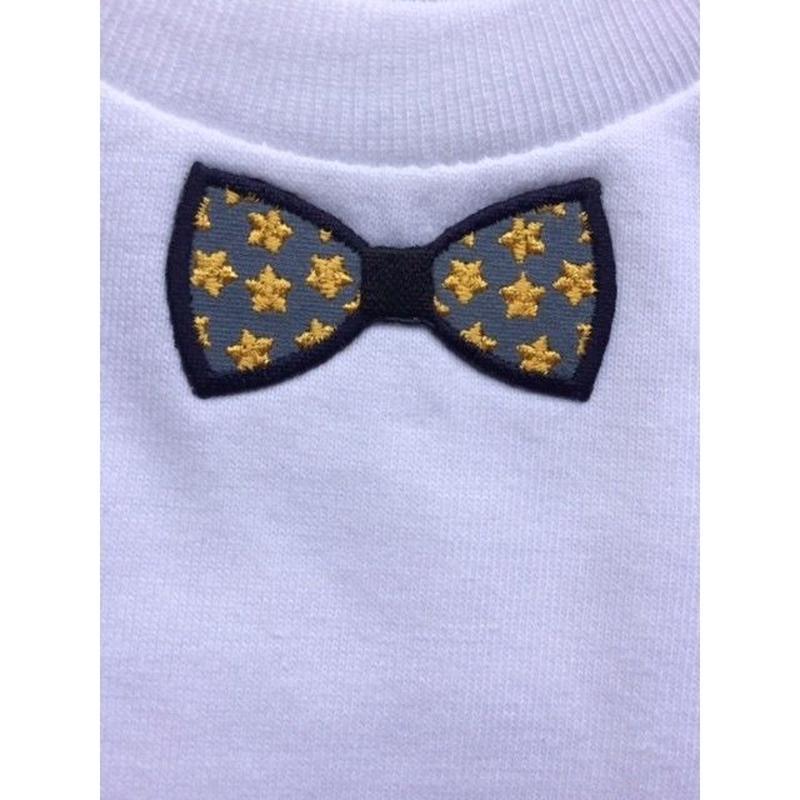 RIBON YELLOW STAR ロンパース  WHITE