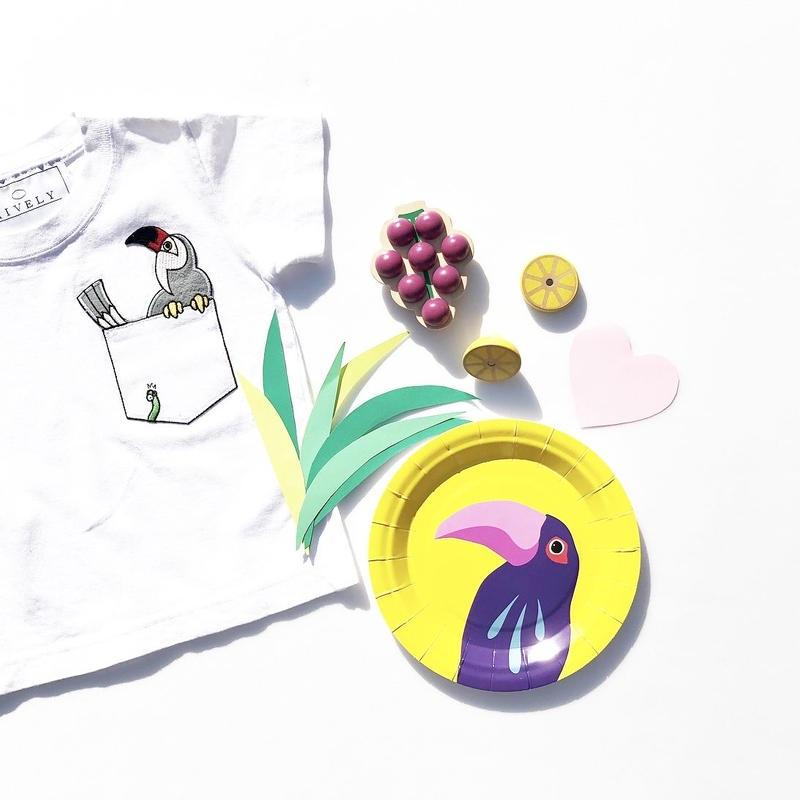 PARROT KIDSTシャツ White