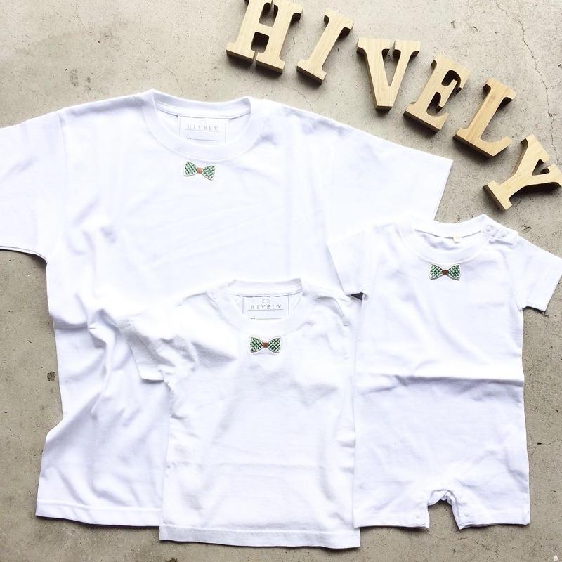 RIBON GREENCHECK TシャツWHITE