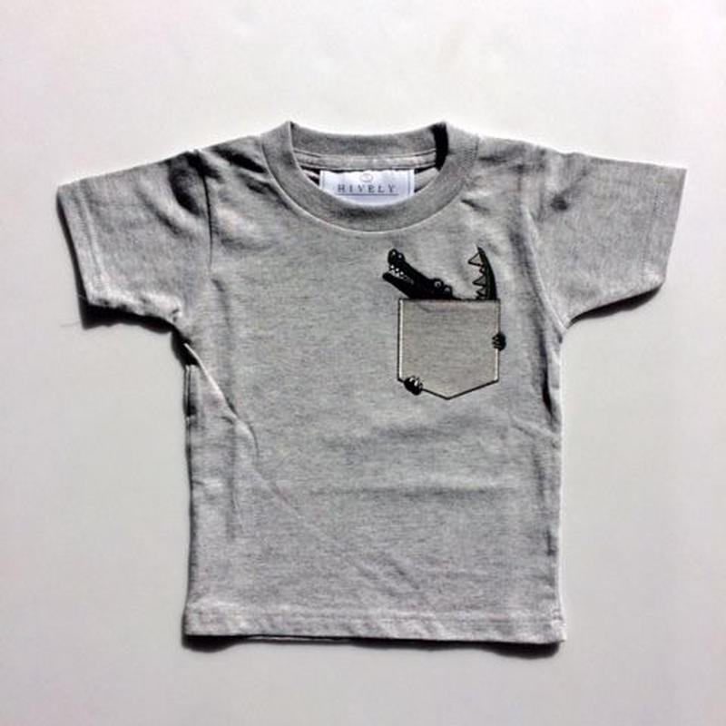 CROCODILEKIDSTシャツ gray