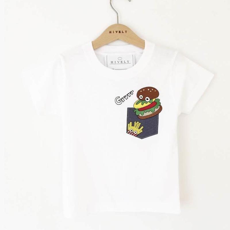 BURGER KIDS Tシャツ デニムPK