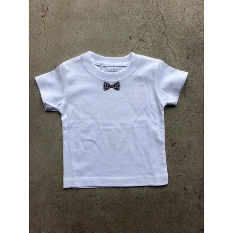 RIBON BLUE STAR TシャツWHITE  LADYS/MENS