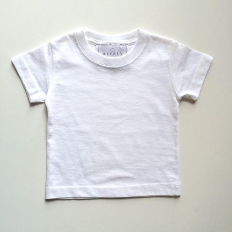 無地Tシャツ white
