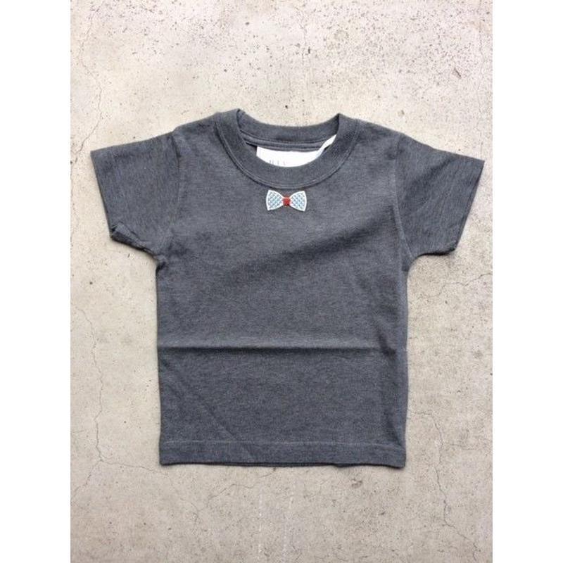 RIBON BLUECHECK TシャツGLAY   LADYS/MENS