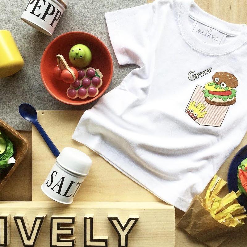 BURGER KIDS Tシャツ レッドPK