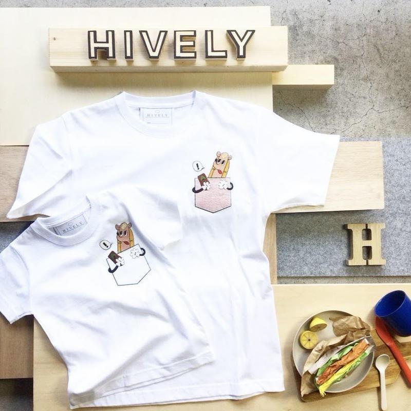 HOT DOG KIDS Tシャツ ホワイトPK