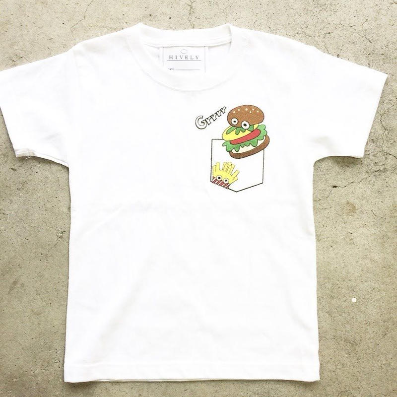 BURGER KIDS Tシャツ ホワイトPK