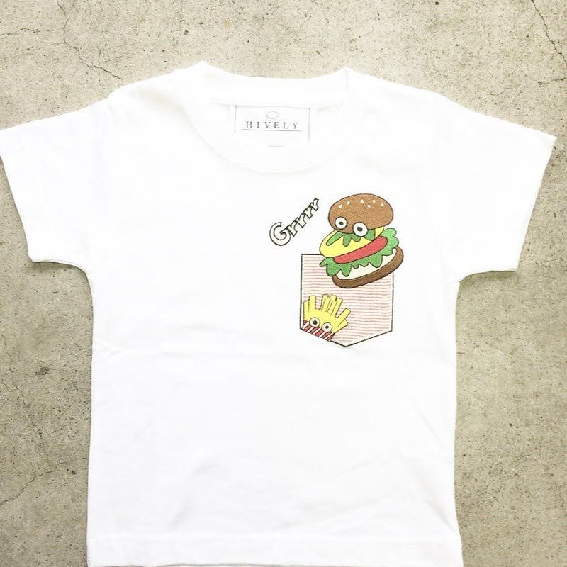 BURGER  Tシャツ レッドPK   LADYS/MENS